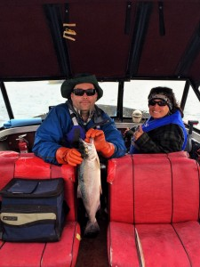 Rob & Linda out fishing